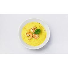 Кукурудзяний суп з креветками